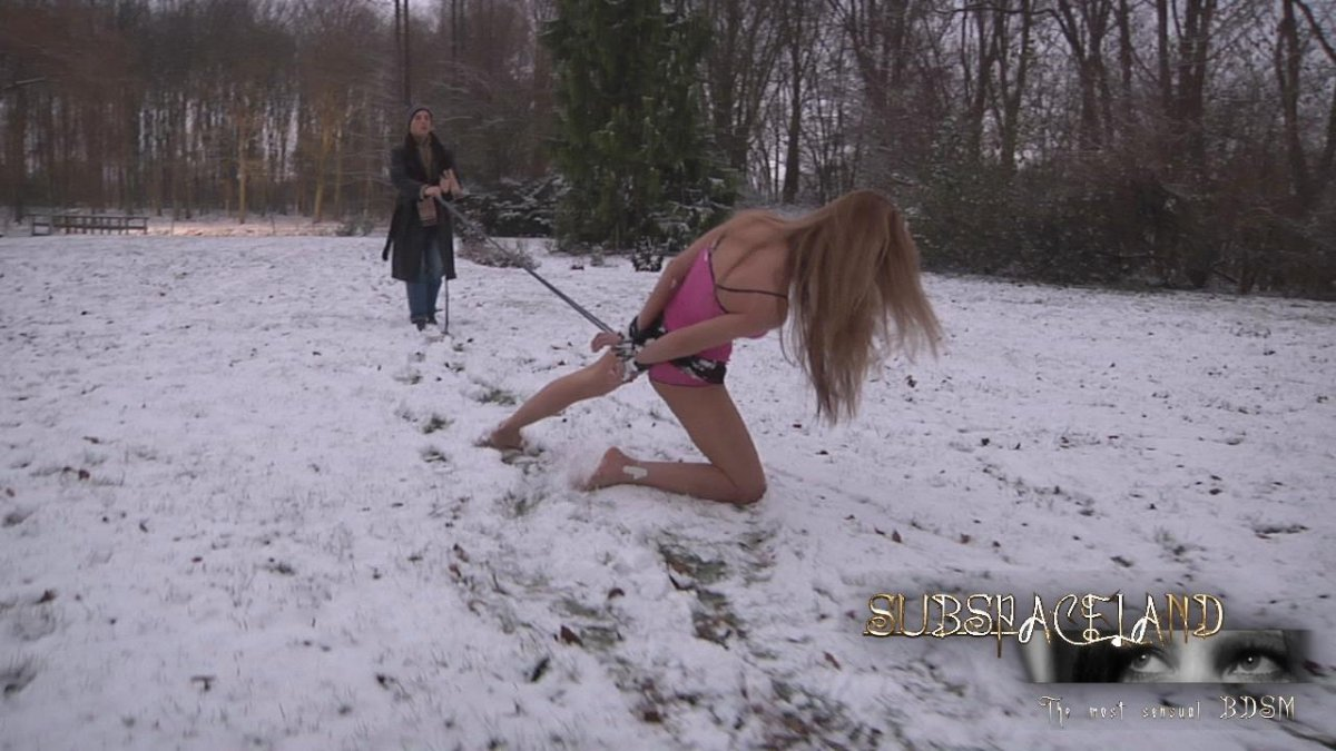 bdsm Outdoor uncut blonde