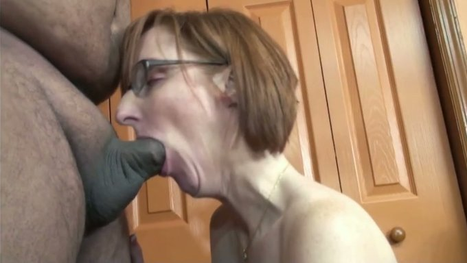 Glasses sucking dick huge piercing