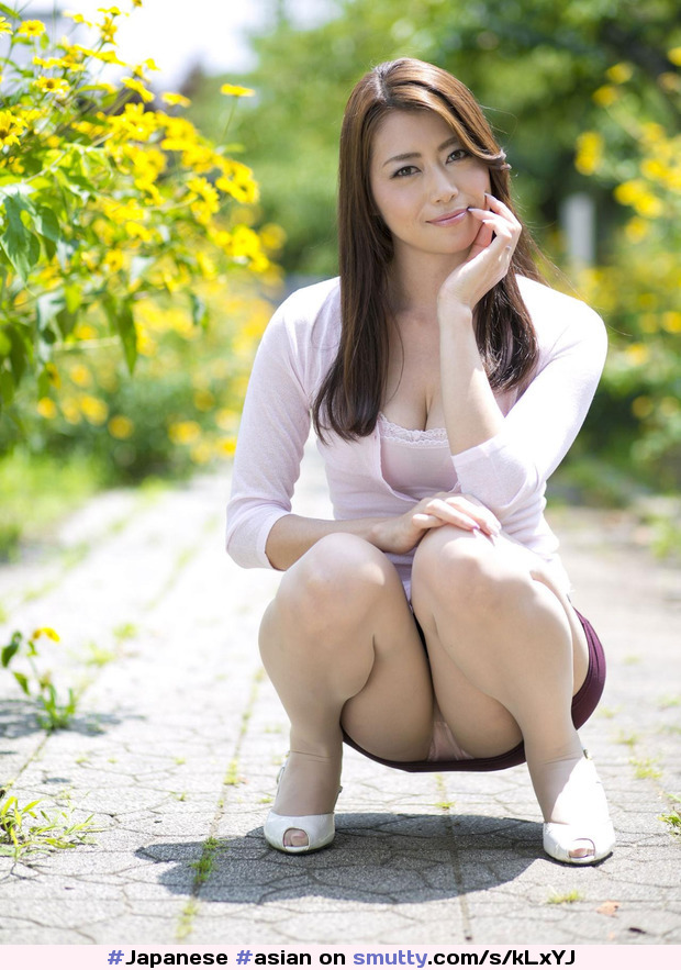 asian Outdoor announcement upskirt cum