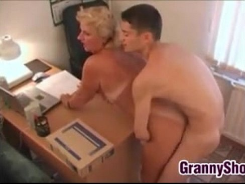 office Amateur grannies stepbrother