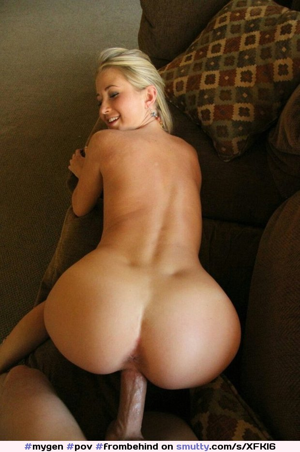 wanking Blonde POV butt big