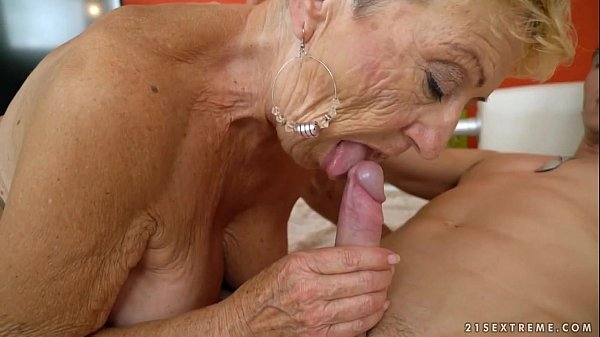 dick grannies lesbo sucking Old