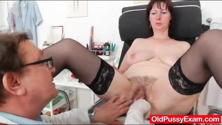 Sensual chubby lingerie doctor