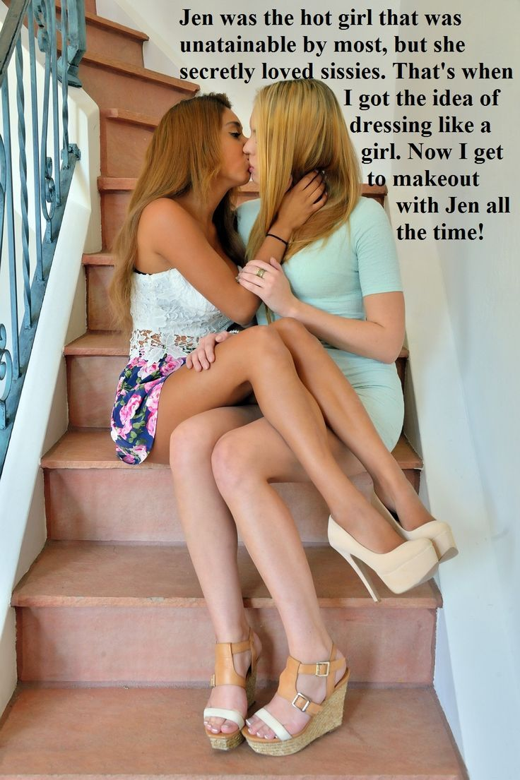time first stockings lesbo Party