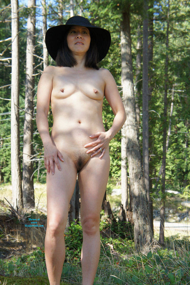 asian shaved Outdoor watching