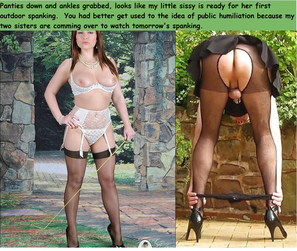 pantyhose sissy humilation First time