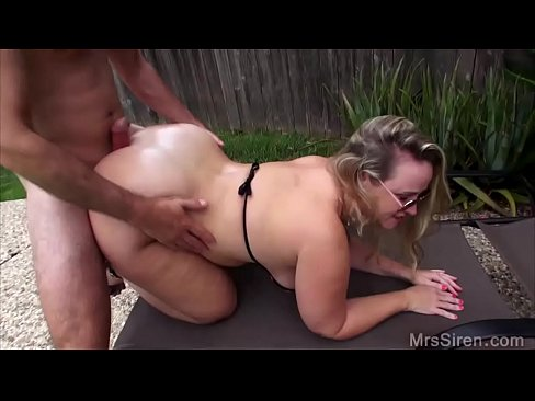 Housewife outdoor bbc chubby