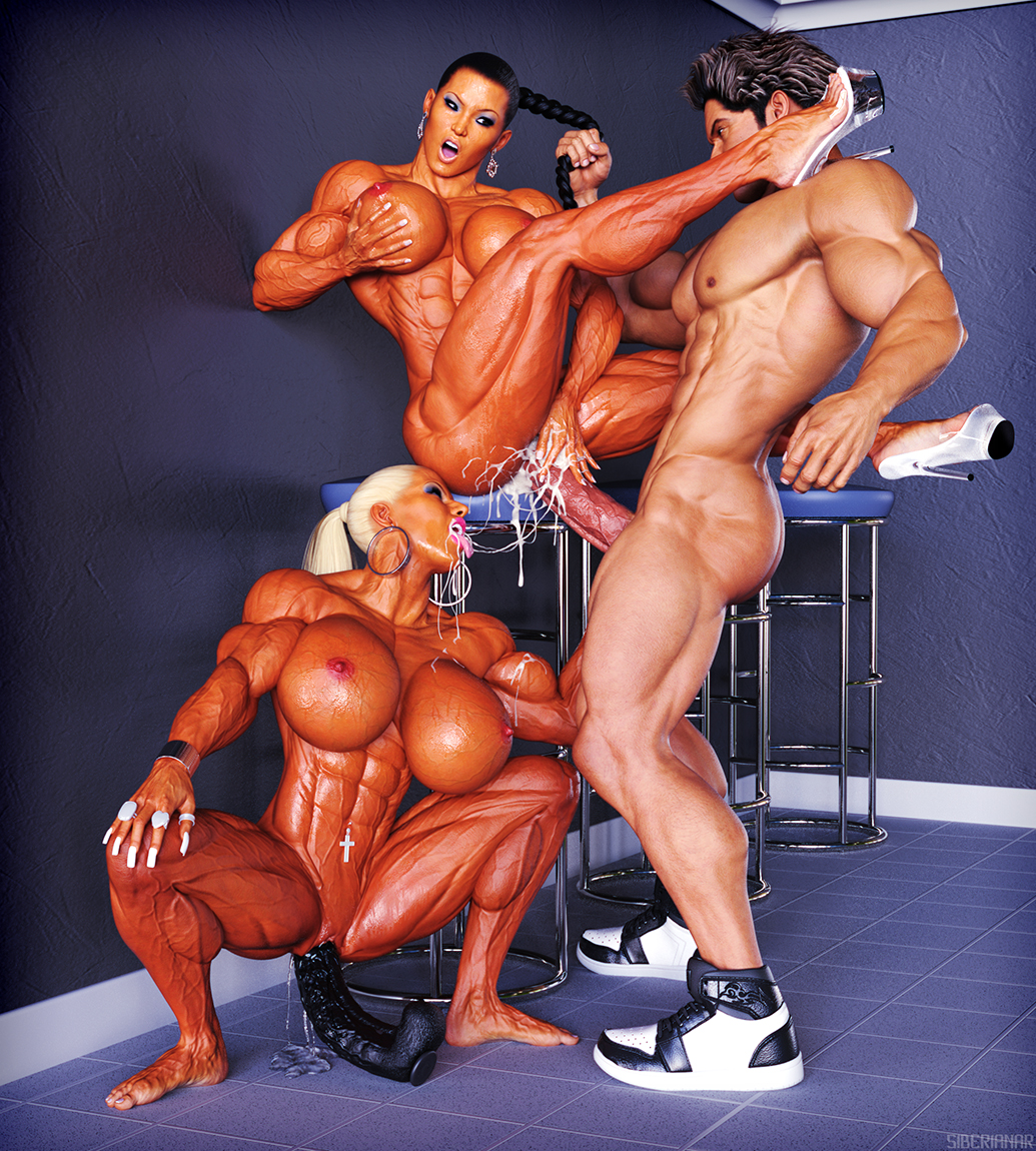 machines Muscle boobs fucking domination big