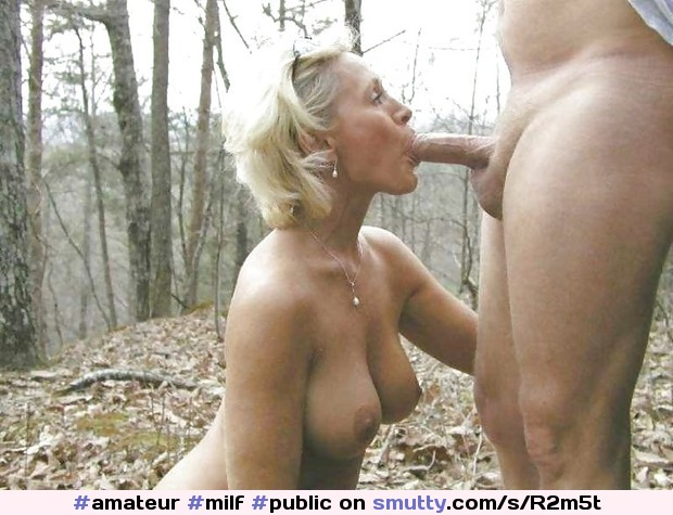 eating wife Outdoor blonde ass