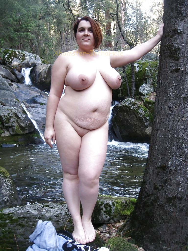 Woman babe outdoor chubby